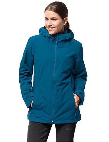 Jack Wolfskin Women's Norrland 3-in-1 W Waterproof Insulated Jacket, Celestial Blue, Large