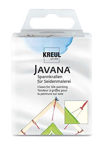Kreul 810024 - Javana Spannkrallen für Seidenmalerei, mit Gummiringen zum Befestigen, 24 Stück