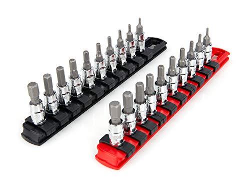 TEKTON 1/4 Inch Drive Hex Bit Socket Set, 20-Piece (5/64-5/16 in, 2-8 mm)   SHB90201