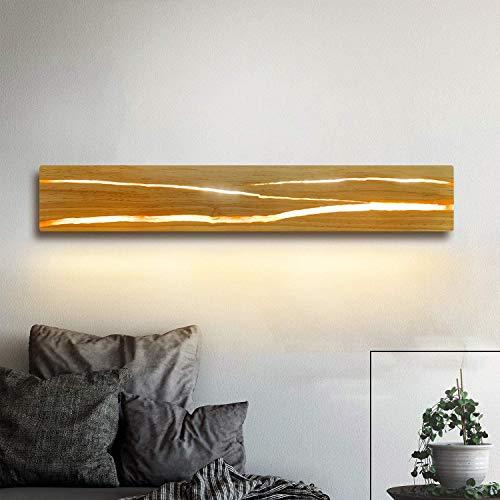 ZMH Holz Wandleuchte LED 8W Wandlampe innen Holz Nachtlampe Nachtlampe warmweiß für Schlafzimmer Flur Treppe Innenbeleuchtung