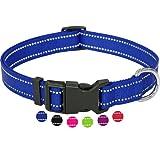 Amazon Brand - Umi - Collar de Perro, Reflectante, Ajustable, Nylon, para Perros pequeños y Grandes, Cachorros y Gatos, en Muchos Colores y Tallas Distintos, Azul, S