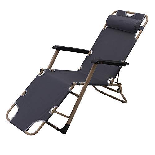 YQAD - Tumbona de metal portátil para oficina, jardín, patio, playa, camping, sillas