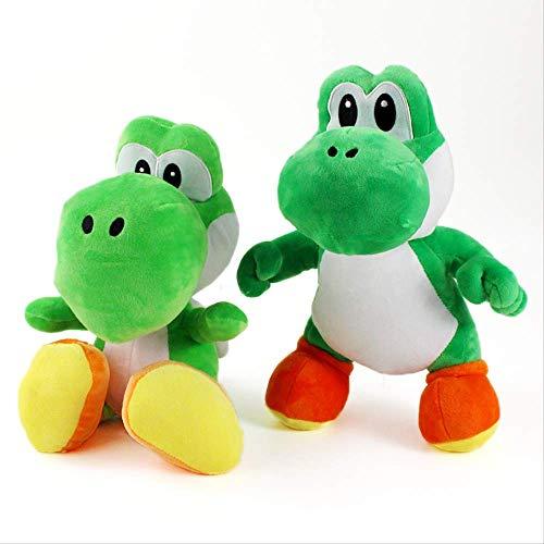 2 Piezas 28-33Cm Yoshi Plush Doll Super Mario Bros Toy Green Yoshi Doll Regalos para Nios
