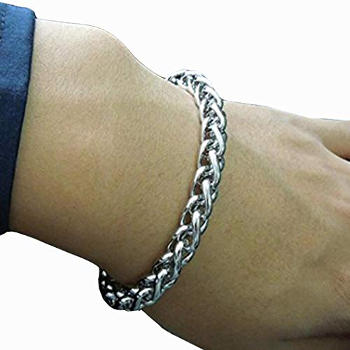 Titanium Steel Man Basket Chain Bracelet (3mm Wide)