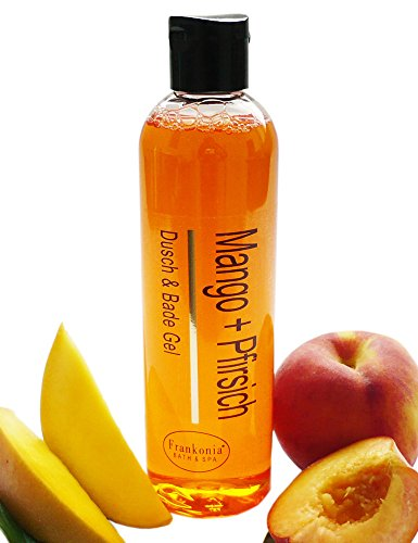 Mango+Pfirsich Duschgel Badeschaum mit Mandelöl | 250ml