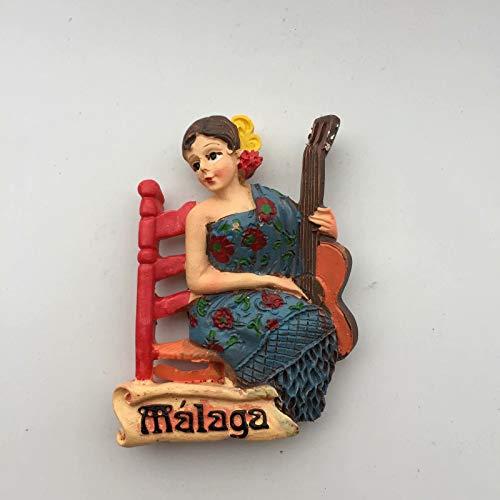 Weekino Malaga Spagna Calamità da frigo 3D Polyresin Tourist City Viaggio Souvenir Collezione Regalo Forte Frigorifero Sticker
