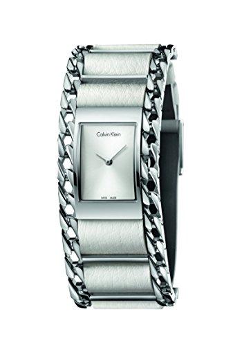 Calvin Klein Damen Analog Quarz Uhr mit Leder Armband K4R231L6