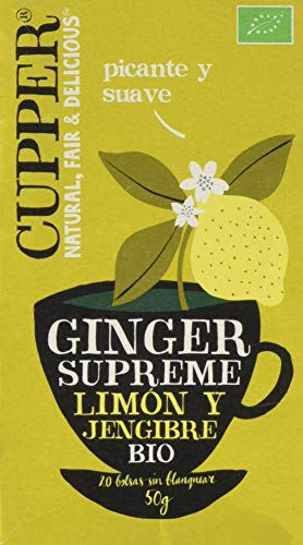 Cupper Infusion Ginger Supreme Bio, 20 Bolsas Cupper 1 Unidad 200 g