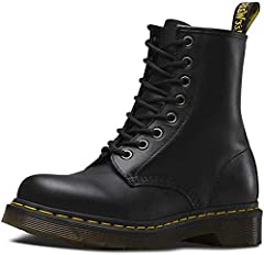 Original Dr. Martens boot, built for a woman Made with all the classic Doc's DNA, including grooved sides, heel-loop and yellow stitching Built on the iconic Dr. Martens air-cushioned, with good abrasion and slip resistance Airwairs original signatur...