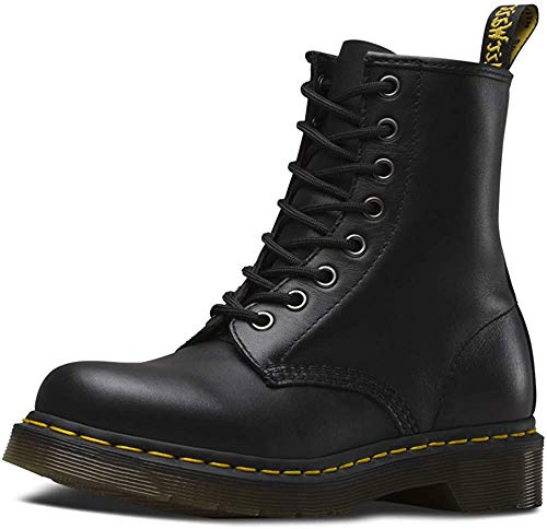Dr. Martens mens 1460w Originals Eight-eye Lace-up Combat Boot, Black Nappa, 9 US