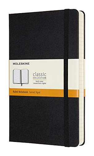 Moleskine Classic Expanded Notebook, Hard Cover, Large (5' x 8.25') Ruled/Lined, Black, 400 Pages
