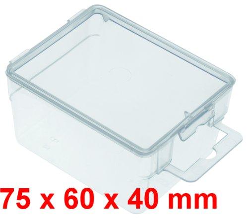 10x Transparentbox 75x60x40 mm mit Eurolochung zum aufhängen