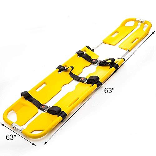 GLJY Medizinischer Notfall Bahre 350LB Tragkraftt EMS Medical Stretcher Aluminium Adjustable Scoop Stretcher