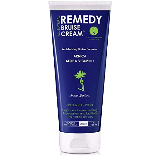 Remedy Moisturizing Bruise Formula Cream - Organic Arnica Montana - Aloe, Shea Butter & Vitamin E Speeds Healing Reduces Pain - Repair Stretch Marks, Scars, Swelling 4 Oz