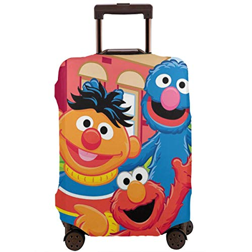 Coo-Kie El-Mo Monster Elastic Luggage Cover Travel Accessory Zipper Spandex Washable Travel Suitcase Protector Case Fits 18/24/28/32 Inch