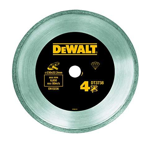 Dewalt DT3738-XJ - Rueda de corte de diamante, 230 azulejos/hartker, sinterización cv