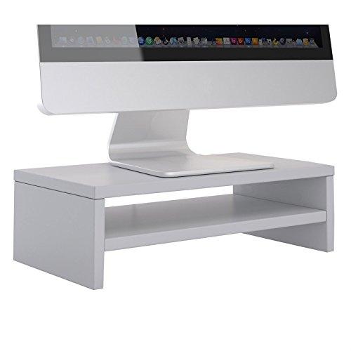CARO-Möbel Monitorständer SUBIDA Bildschirmaufsatz Schreibtischaufsatz Bildschirmerhöhung mit Ablagefach, in hellgrau