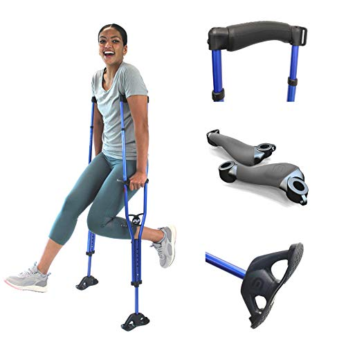 """Dynamo Sport Swings Lightweight Crutches Are The Best For Recovery. Big Shock-Resistant Grippy Feet Give You Confidence & Comfort. Anti-slip Back Strap Reduces Slip-outs/Falling (5'2""""-5'10"""")"""