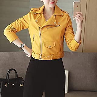 Zyd Punk Lapel Women Leather Jacket