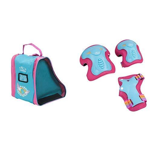 HUDORA Rollschuh-Tasche Kinder, Skater-Tasche Skate Wonders, 29951, M & HUDORA Protektoren Kinder Skate Wonders, Protektoren-Set Inliner, Gr. S, 83317
