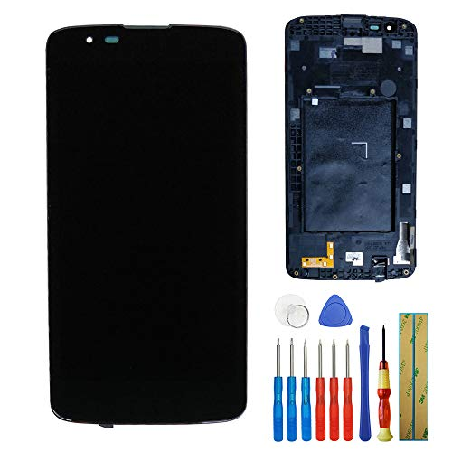 for LG Tribute 5 K7 LS665 LS675 MS330 New Replacement Touch Screen Display LCD Assembly with Frame Black + Tools
