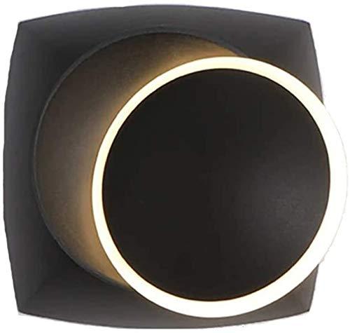 Aplique de pared industrial LED, Wall Sconence, rotatable 360 grados Lámpara de pared interior moderna LED Luz de pared Luz de pared Acrílico Metal Iluminación de la pared Sconence Iluminación para