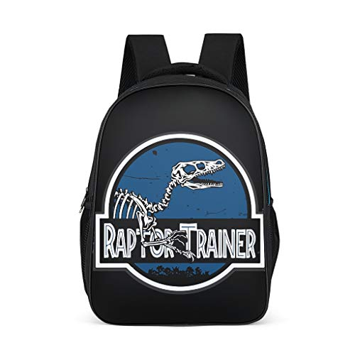 Raptor Trainer Adult's Schoolbags Classic All Over Print Travel Jurassic grey onesize