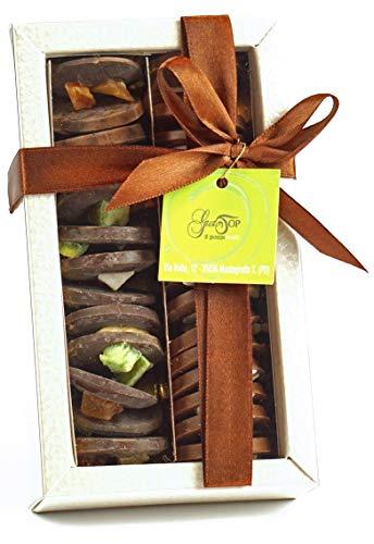 Le Mendiants 2 gusti: cioccolato al latte con mandorle tostate, cioccolato fondente e frutta, confezione da 170 gr