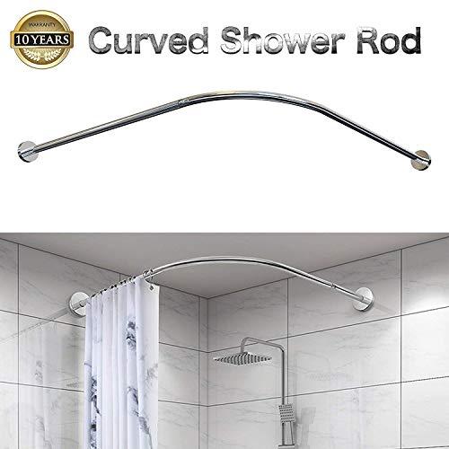 Begeri L duschvorhangstange,duschvorhangstange ohne Bohren,Teleskopstange aus Edelstahl,(75-95cm) *(110-170cm)