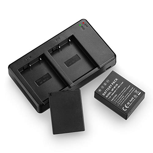 NP-W126 NP-W126s Battery and Rapid USB Charger Compatible with Fujifilm X-A1, X-A2, X-A3, X-A5, X-A10, X-E1, X-E2, X-E2S, X-E3, X-H1, X-M1, X-Pro2, X-T1, X-T2, X-T3, X-T10, X-T20, X-T30, X-T100, X100F