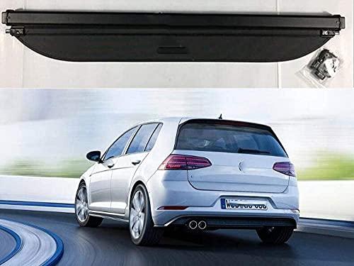 Einziehbar Laderaumabdeckung Rollo für Golf 7 Mk7 2014-2017, Cargo Cover Ausziehbar Rollo, Auto Kofferraumabdeckung Datenschutzmatte GepäCkraumabdeckung