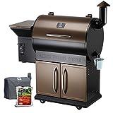 Z GRILLS Wood Pellet Grills 8-in-1 Smoker Grill 700 SQIN Cooking Area,20LB Hopper (ZPG-700DPellets)