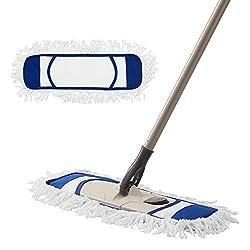 top 10 wooden floor brooms Eyliden Dust Mop, microfiber floor wiper with height adjustable handle and two washable handles …