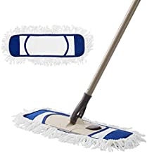 Eyliden Dust Mop, Microfiber Mops for Floor Cleaning, with Hight Adjustable Handle and 2 Washable Mops Pads, Wet & Dry Floor Cleaning Mop for Hardwood, Tiles, Laminate, Vinyl - Dust Broom (Blue)