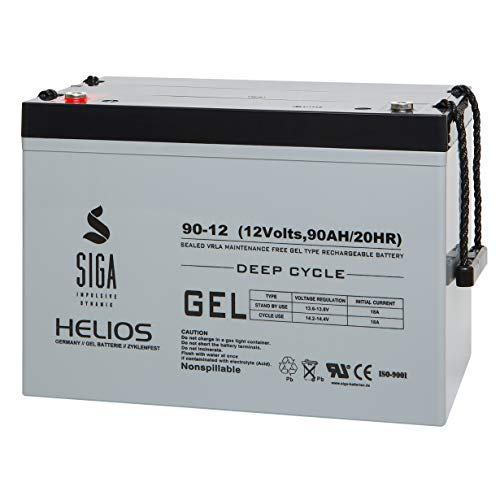 Gel Batterie 90Ah 12V Akku Blei Gel Batterie Solarbatterie Solarakku Wohnmobil Mover Boot sehr zyklenfest