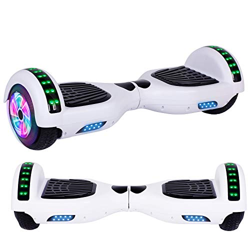 Felimoda Hoverboard, w/Bluetooth Speaker for Kid and Adult- UL2272 Certified (White)