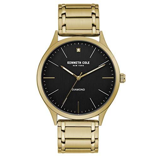Kenneth Cole New York Reloj clásico con esfera de diamante para hombre