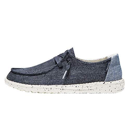 Hey Dude Wendy – Zapato casual Slip-On para mujer – Confort y ligereza – Plantilla ergonómica de espuma viscoelástica – Diseñado en Italia y California Size: 41 EU Larga