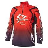 Piscifun Performance UPF Long Sleeve Fishing T-Shirt-Sun Protection Clothing Fishing Jersey XL Red