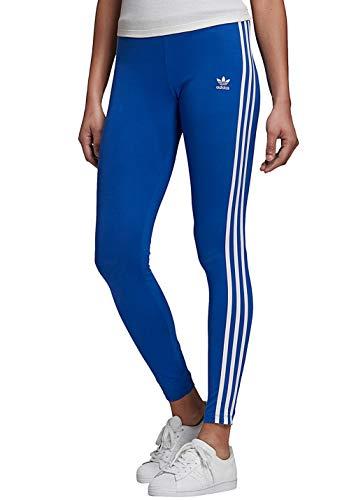 adidas Damen Adicolor 3-Streifen Leggings, Royal Blue/White, 36
