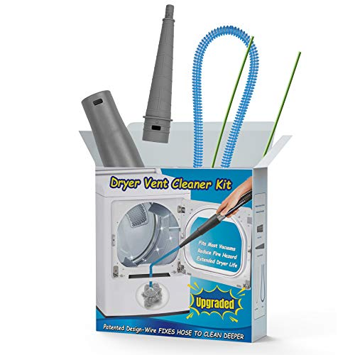 Webetop Dryer Vent Cleaner Kit Dryer Vent Vacuum Attachments Lint Remover Fixed Hose Upgrade Design