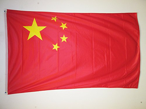 AZ FLAG Drapeau Chine 150x90cm - Drapeau Chinois 90 x 150 cm Spécial Extérieur - Drapeaux