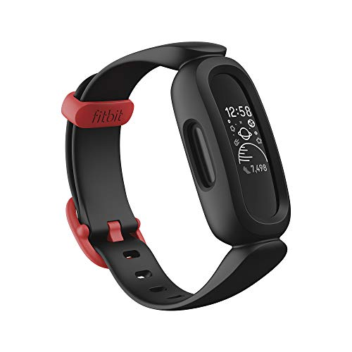 Fitbit Ace 3 Activity Tracker for Kids 6+, Black/Racer Red, One Size