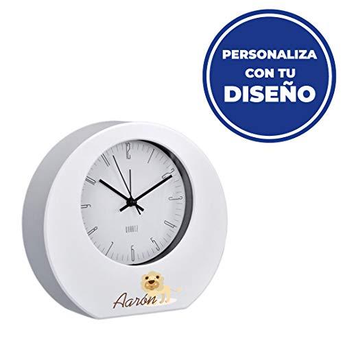 Promo Shop Reloj de Mesa Personalizado con tu Foto, Imagen o diseño. con Mecanismo de Cuarzo y Alarma.