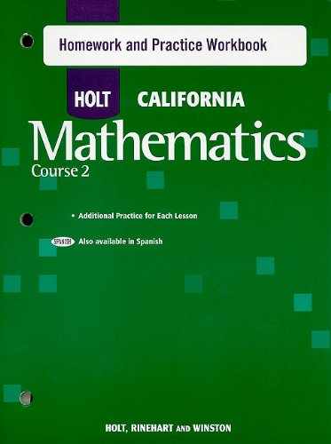 Holt Mathematics: Homework and Practice Workbook Course 2