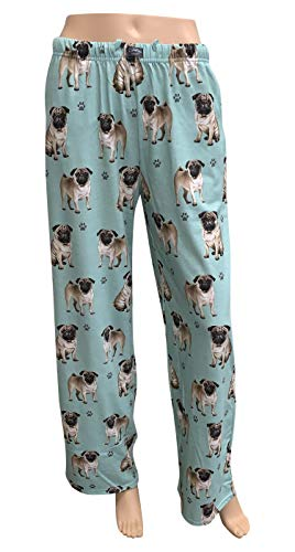 E & S Imports Women's Pug Dog Lounge Pants - Pajama Pants Pajama Bottoms - Medium