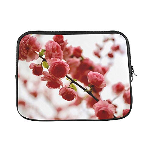 Design Custom Blossom Pink Romantic Spring Nature Bloom Flower Sleeve Soft Laptop Case Bag Pouch Skin for MacBook Air 11'(2 Sides)