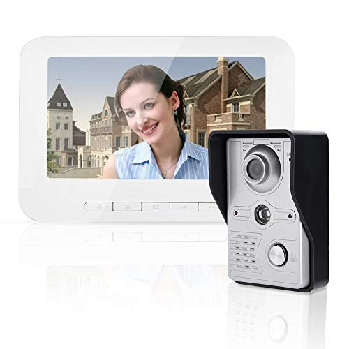 """7"""" WiFi Interfono Timbre Intercomunicador Cámara de Vigilancia Exterior, IP HD Teléfono Cámara Desbloqueo Remoto Seguridad de Hogar(EU)"""