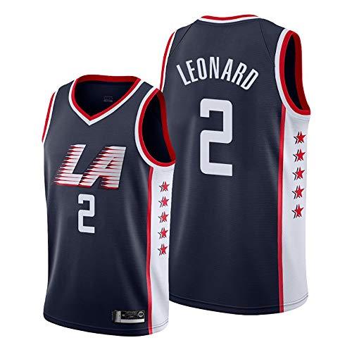 LITBIT Camiseta de baloncesto para hombre, diseño de Leonard City Edition 2021, transpirable, secado rápido, resistente al desgaste, sin mangas, para deportes, color negro, XL