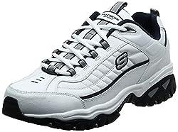 top rated Skechers Energy Afterburn Men's Street Shoe White / Navy 11 X-Wide US 2021